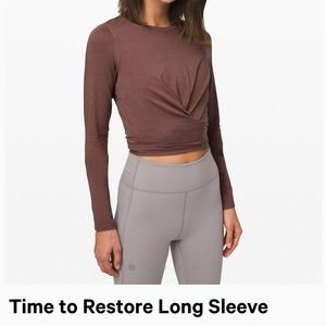 Lululemon long sleeve workout shirt